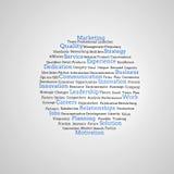 Grupp av blåa marknadsföringsuttryck Royaltyfria Bilder