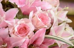 Grupp av blommor - konstgjorda blommor Royaltyfri Foto