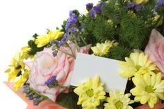 Grupp av blommor med tomt utrymme för din text Royaltyfri Fotografi
