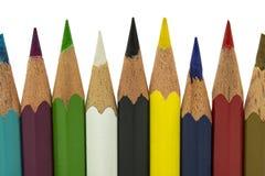 Grupp av blyertspennor arkivbild