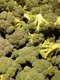 Grupp av broccolihuvud arkivfoton