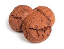 Grupp av bruna kakor Royaltyfria Foton