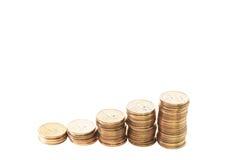 Grupp av bunten av en dollar mynt Royaltyfria Foton