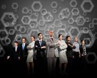 Grupp av businesspeople royaltyfri foto