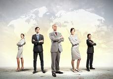 Grupp av businesspeople Arkivfoto