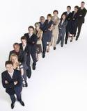 Grupp av Businesspeople i rad arkivbild