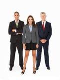 Grupp av Businesspeople i studio royaltyfria bilder
