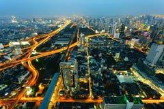 Grupp av byggnader i Bangkok, Thailand royaltyfri fotografi