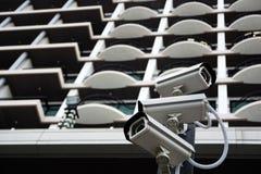 Grupp av CCTV-säkerhetskameran Royaltyfri Fotografi