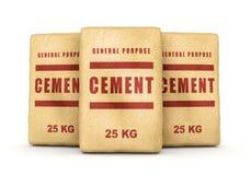Grupp av cementpåsar Arkivfoton