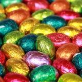 Grupp av chokladägg Arkivbilder