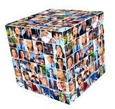 Grupp av collage för affärsfolk. Arkivbilder