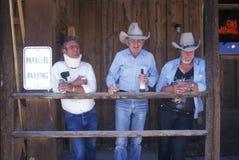 Grupp av cowboys Royaltyfri Fotografi