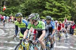 Grupp av cyklister Royaltyfri Fotografi