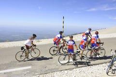 Grupp av cyklister Arkivfoton