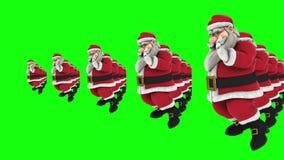 Grupp av dans 9 för jultomtenhöftflygtur arkivfilmer