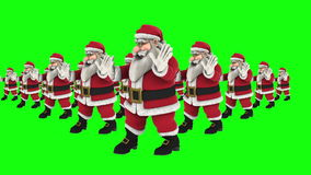 Grupp av dans 10 för jultomtenhöftflygtur lager videofilmer