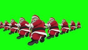 Grupp av dans 11 för jultomtenhöftflygtur arkivfilmer