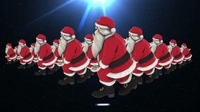 Grupp av dans 12 för jultomtenhöftflygtur lager videofilmer