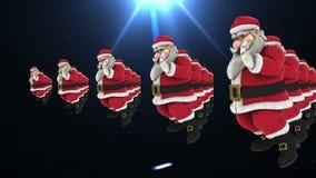 Grupp av dans 13 för jultomtenhöftflygtur lager videofilmer