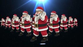 Grupp av dans 4 för jultomtenhöftflygtur lager videofilmer