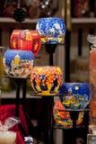 Grupp av dekorerade candle-holders Fotografering för Bildbyråer
