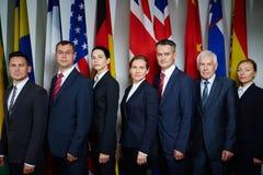 Grupp av delegater Royaltyfria Foton