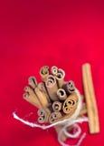 Grupp av den kanelbruna sticken Royaltyfri Foto