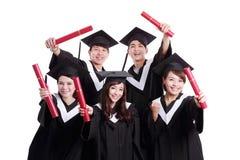 Grupp av den lyckliga kandidatstudenten Royaltyfri Fotografi