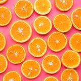 Grupp av den orange skivan frukt och sommarbegrepp royaltyfri foto