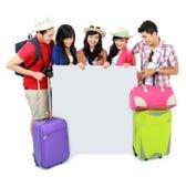 Grupp av den unga turisten Royaltyfri Bild