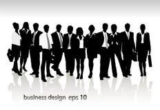 Grupp av det affärsfolk och kontoret Arkivbilder
