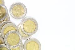 Grupp av det 10 baht myntet Royaltyfria Bilder