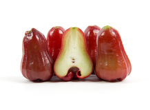 Grupp av det nya rosa äpplet Arkivfoto