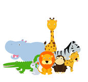 Grupp av djuruppsättningen Royaltyfri Bild