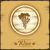 Grupp av druvor för etiketter av vin Arkivfoton