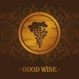 Grupp av druvor för etiketter av vin Arkivfoto