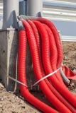 Grupp av elektriska kablar Royaltyfria Foton
