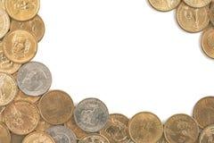 grupp av en dollar mynt Royaltyfri Foto