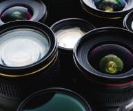 Grupp av en lins för digital kamera Arkivbild