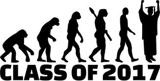 Grupp av evolution 2017 royaltyfri illustrationer