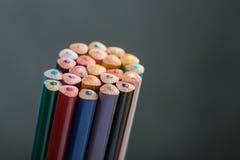 Grupp av färgblyertspennor Royaltyfria Bilder