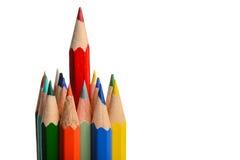 Grupp av färgläggningfärgpennor Royaltyfri Fotografi