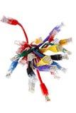 Grupp av färgrika kablar Royaltyfria Foton