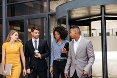 Grupp av företags professionell tillsammans royaltyfria bilder