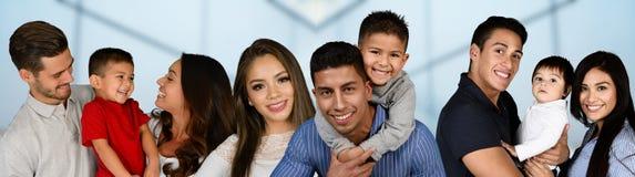Grupp av familjer royaltyfri foto