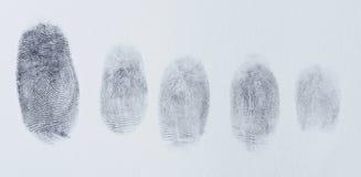 Grupp av fingeravtryck Royaltyfri Bild