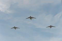 Grupp av flygplan il-76 Royaltyfria Foton