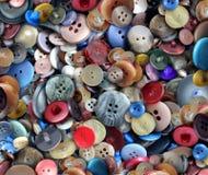 Grupp av gamla knappar Fotografering för Bildbyråer
