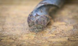 Grupp av gamla oxidtappninghjälpmedel drills Royaltyfria Bilder